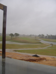 Rainy course at Tiger Point